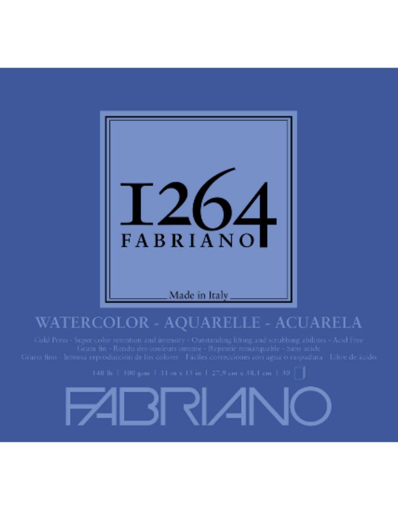 Fabriano Fabriano 1264 Watercolor Pad Spiral Bound 11  x  15 140 lb.