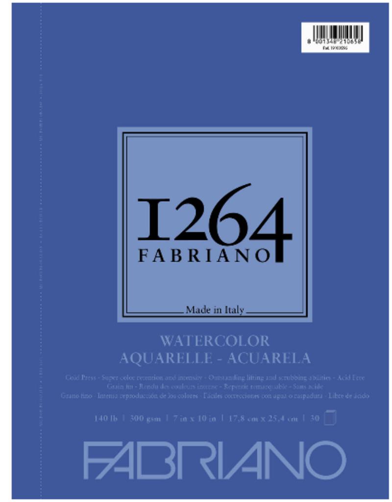 Fabriano Fabriano 1264 Watercolor Pad Spiral-Bound 7  x  10 140 lb.