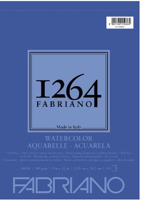 Fabriano Fabriano 1264 Watercolor Pad Spiral-Bound 9  x  12 140 lb.