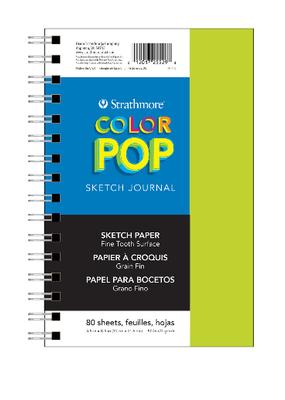 Strathmore Pop Sketch Journals 5.5  x  8.5 Green