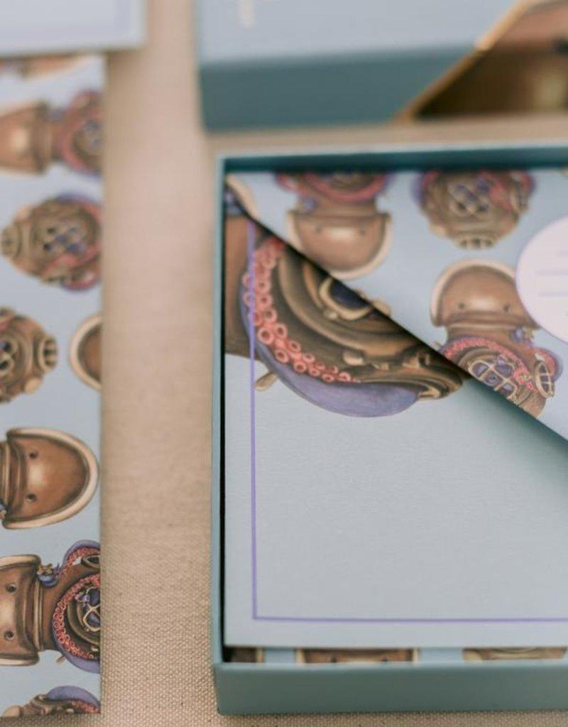Good Juju Ink Stationery Set Blue Octopus Diver