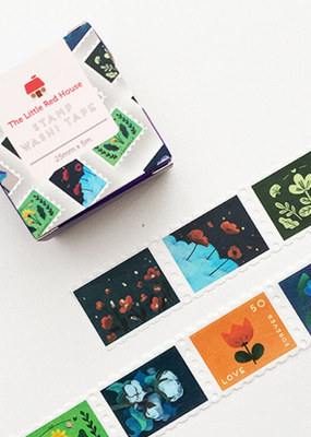 The Little Red House Washi Wide Floral Stamp