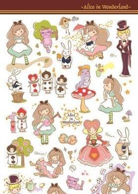 Sticker Alice in Wonderland