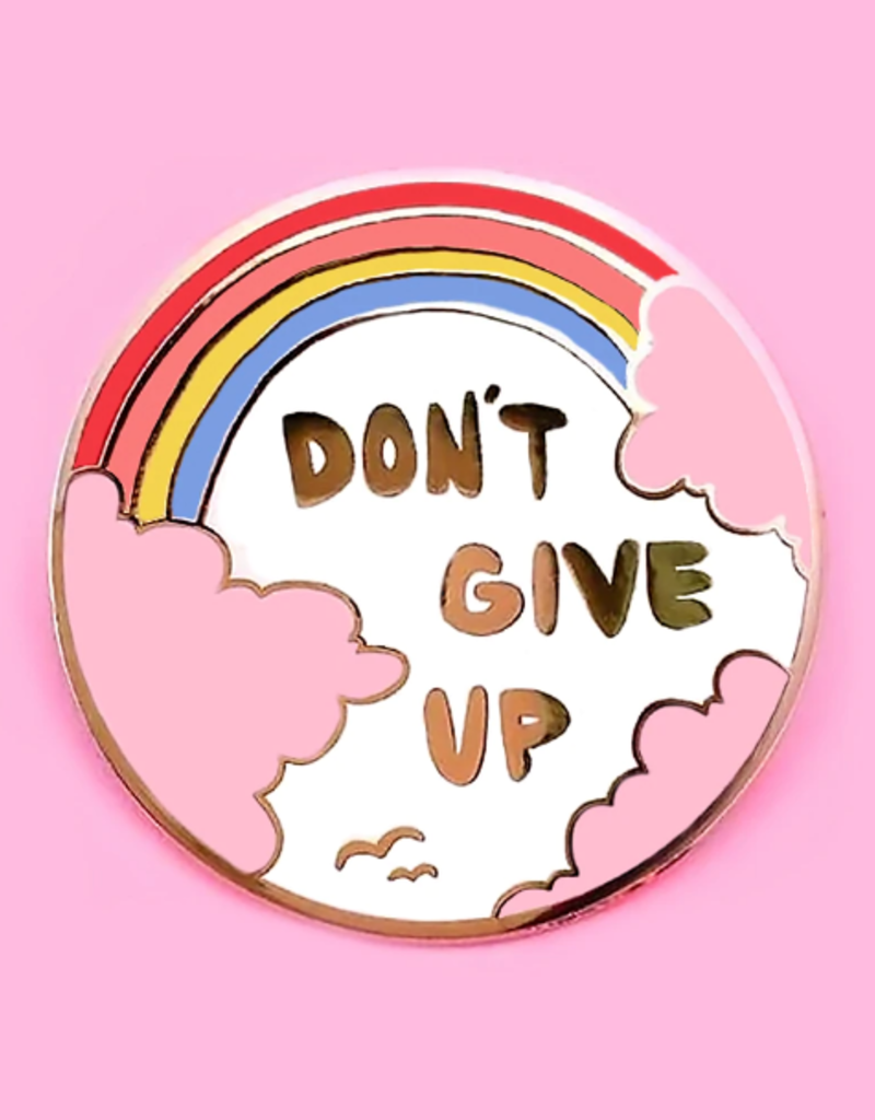collage Enamel Pin Dont Give Up