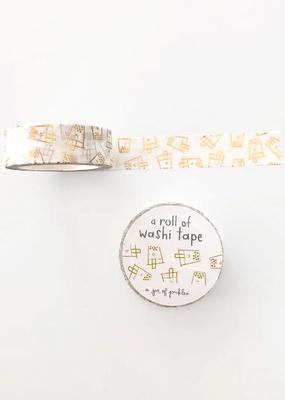 A Jar Of Pickles Washi Boba Gold Foil