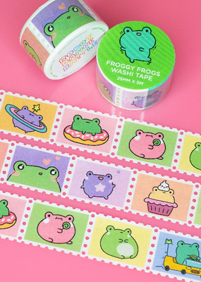 Robot Dance Battle Washi Froggy Frogs Stamp