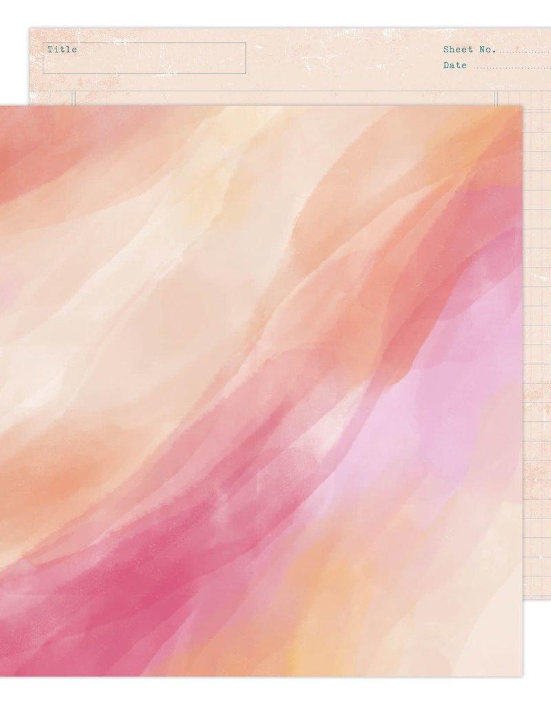 Heidi Swapp 12 x 12 Decorative Paper Sunset