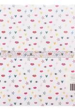 Amy Tangerine 12 x 12 Decorative Paper Iridescent Foil
