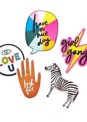 Amy Tangerine Vinyl Stickers Brave & Bold 7 Piece Set