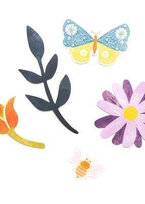American Crafts Wonders Floral Ephemera 50 Piece