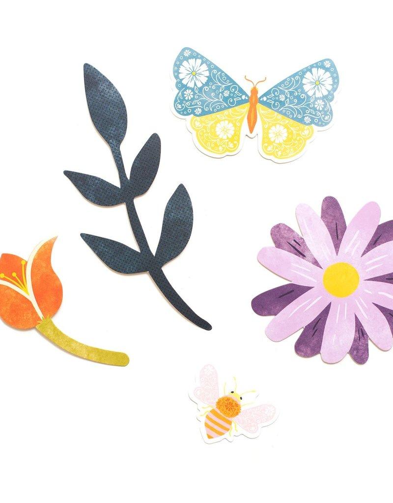 Paige Evans Wonders Floral Ephemera 50 Piece