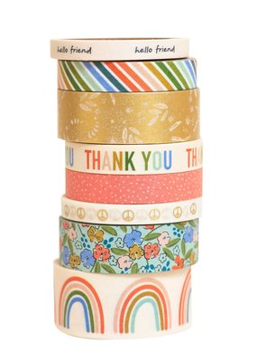 American Crafts 8 Piece Washi Set Reaching Out Patterned