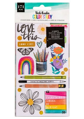 American Crafts Sticker Book Color Story
