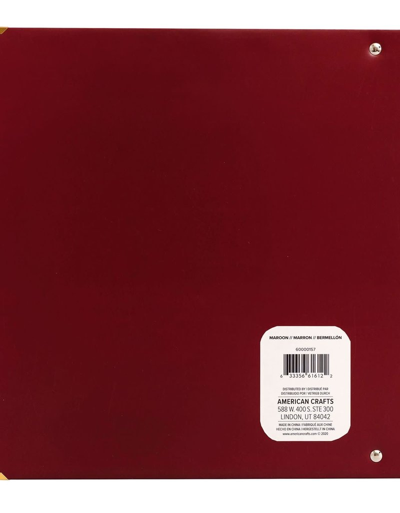 We R Memory Keepers Album 8.5 x 11 Paper Wrapped Maroon