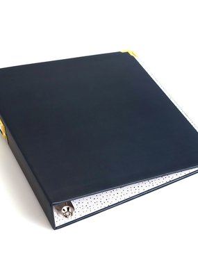 We R Memory Keepers Album 8.5 x 11 Paper Wrapped Navy