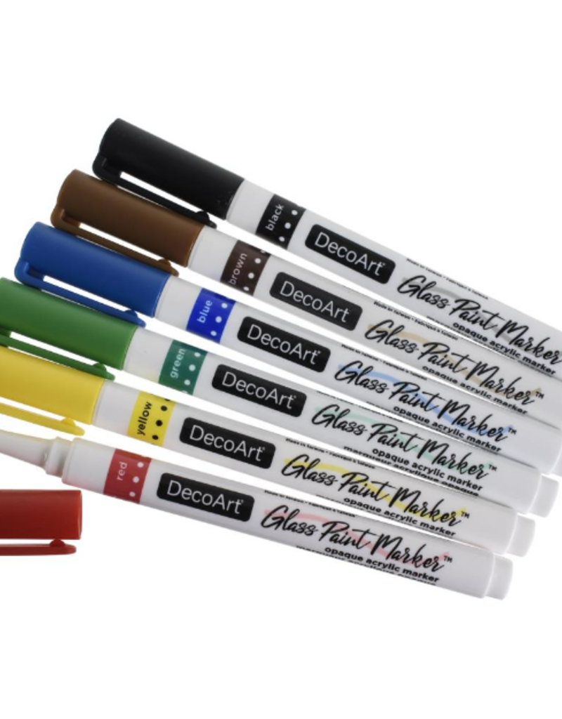 DecoArt Glass Paint Marker Primary Pack