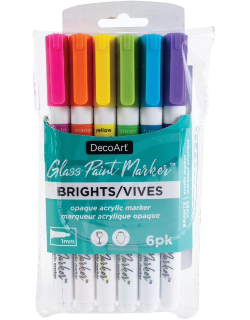 DecoArt Glass Paint Marker Bright Pack