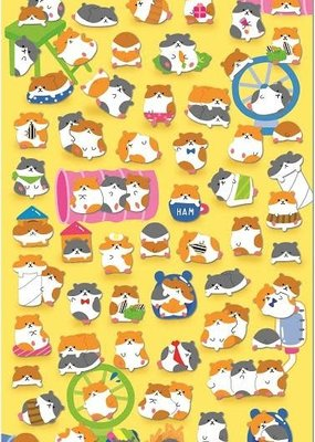 Stickers Hamster Flat