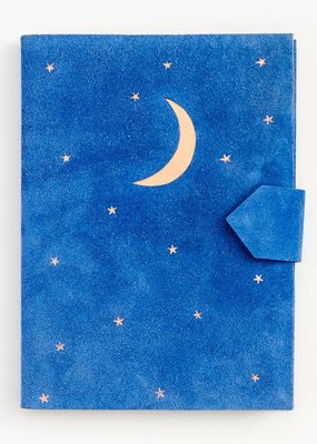 Waste Not Journal Suede Moon & Stars