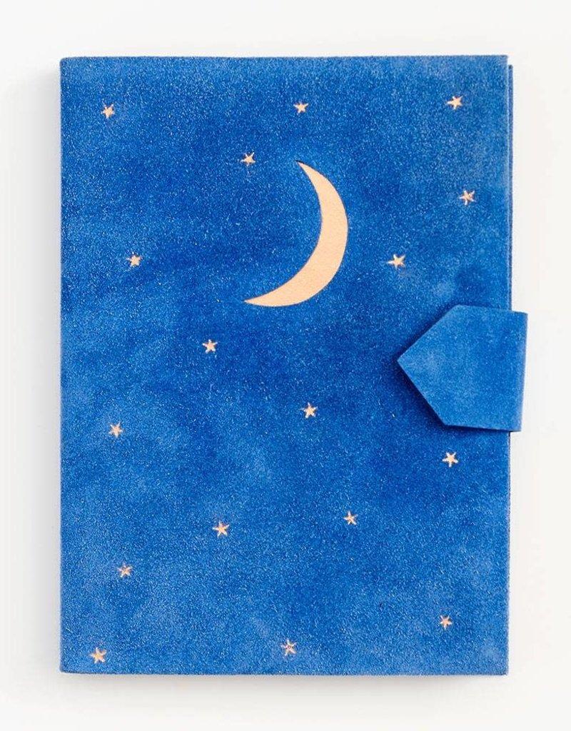 Waste Not Journal Suede Moon & Stars