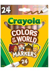 Crayola Colors of the World Marker Set 24 Count