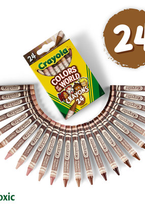 Crayola Colors of the World Crayons 24 Count