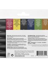 Winsor & Newton Watercolor Markers 6 Basic Tones Set