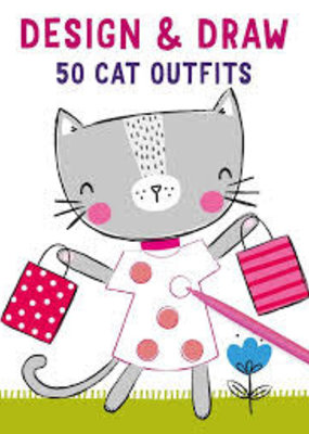 Simon & Schuster Design & Draw 50 Cat Outfits