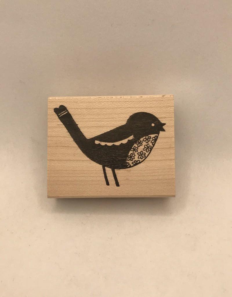 collage Stamp Flower Bird