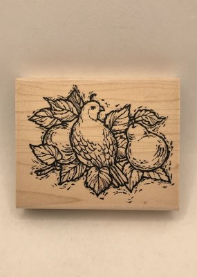 collage Stamp Partridge And Pear