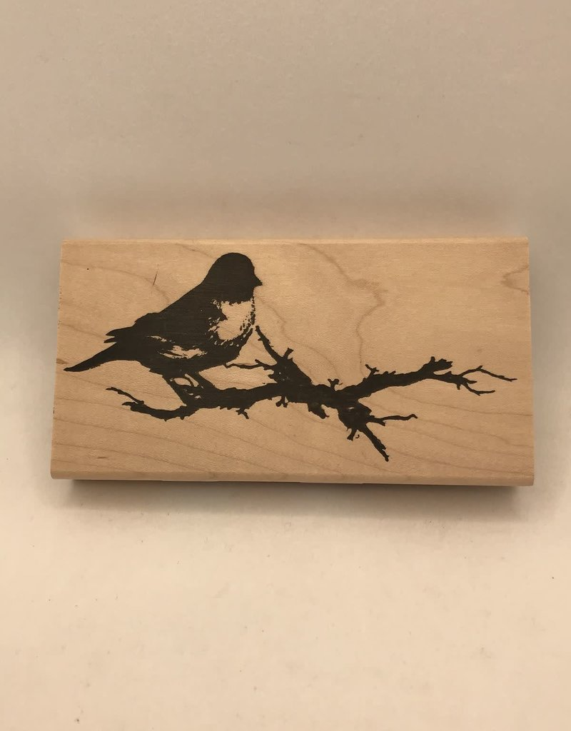 collage Stamp Bird On Branch Large