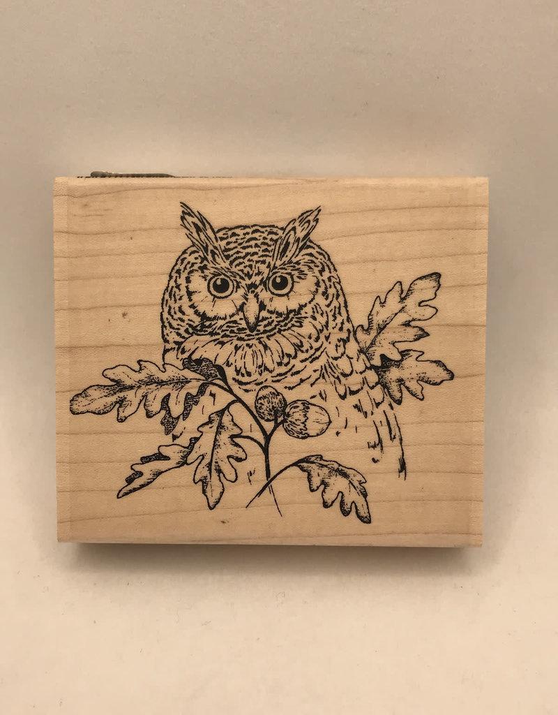 collage Stamp Owl Autumn