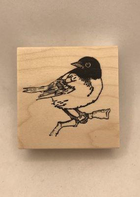collage Stamp Chickadee