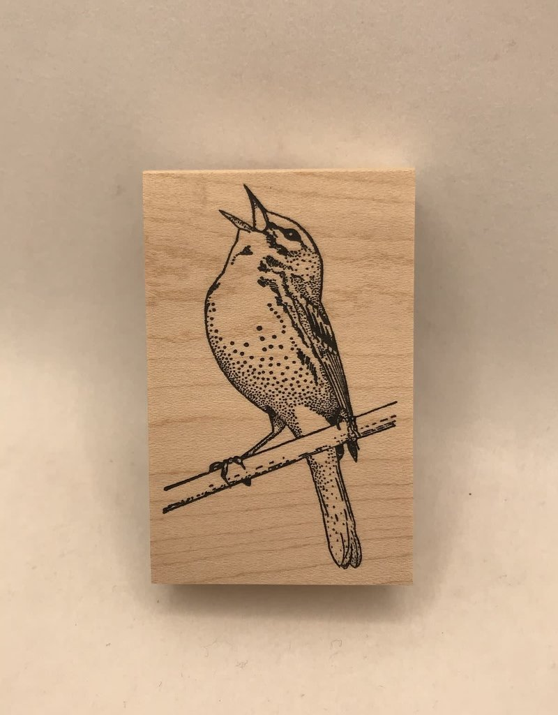 collage Stamp Song Bird
