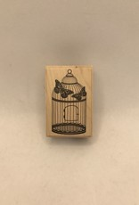 collage Stamp Cage And Butterflies