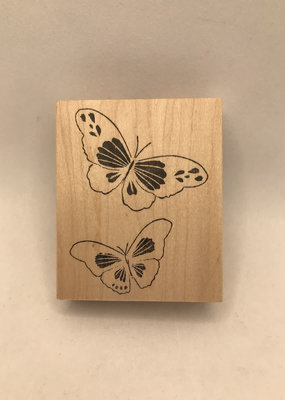 collage Stamp Twirling Butterflies