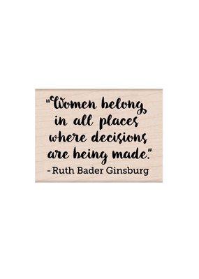 Hero Arts Stamp Women Belong RBG Quote