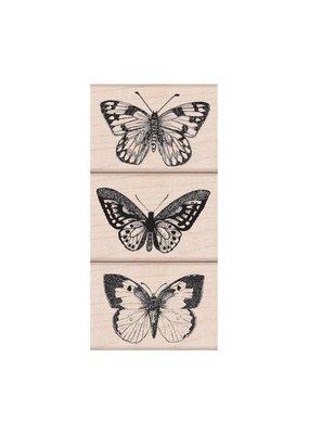 Hero Arts Stamp Set Three Artistic Butterflies