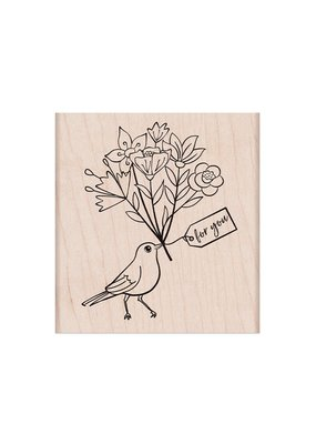 Hero Arts Stamp Bird with Bouquet