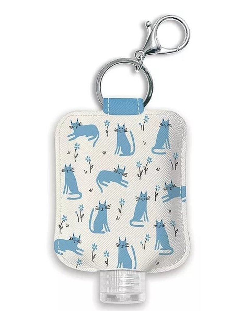 Studio Oh! Hand Sanitizer Holder Blue Cats