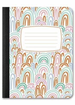 Studio Oh! Composition Book Duo Rainbow Abstract