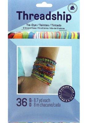 DMC Threadship Prisim Floss Pack Six Strand Tie Dye 36pc