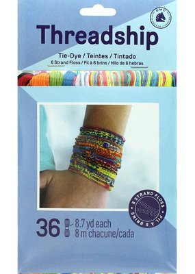 Prism Threadship Prisim Floss Pack Six Strand Tie Dye 36pc