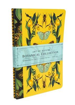 Simon & Schuster 3 Notebook Set Art of Nature: Botanical