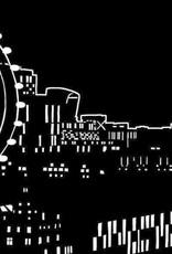 Simon & Schuster Coloring Book Glow in the Dark Cityscapes