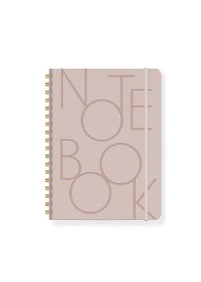 Fringe Notebook Bold Type Mauve