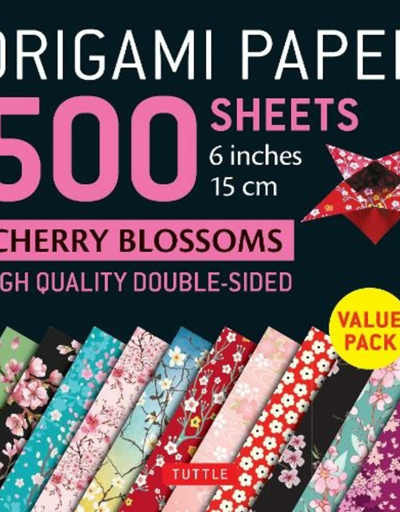 Tuttle Publishing Origami Paper  Cherry Blossoms 500 6 Inch Sheets