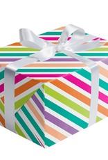 Jillson & Roberts Gift Wrap Roll Neon Stripe
