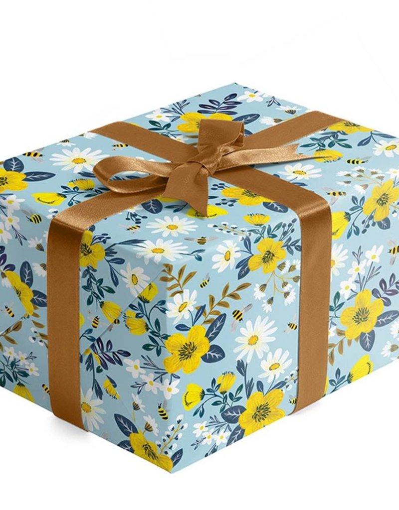Jillson & Roberts Gift Wrap Roll Bumble & Daisy