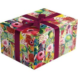 Jillson & Roberts Gift Wrap Roll Floral Collage